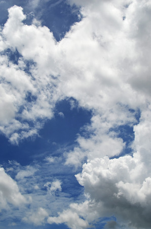 voyage: blue sky with clouds