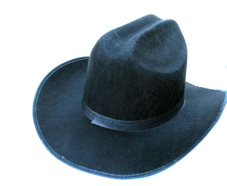 stetson: Black cowboy hat isolated