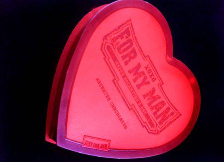 Valentine box of chocolates photo