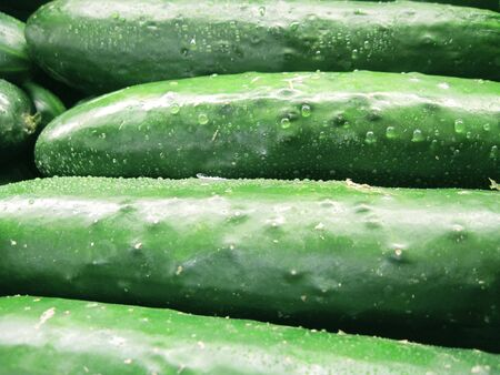 cucumbers: Fresh cucumbers