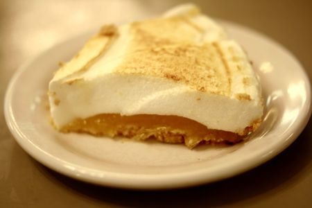 Lemon merange pie Stock Photo