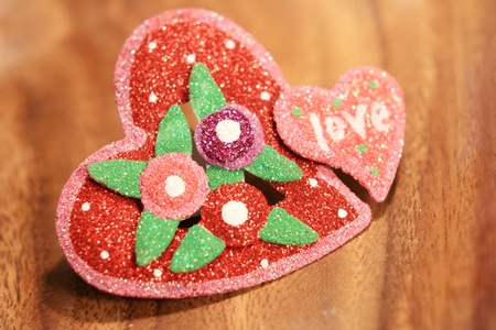 Valentine heart decoration