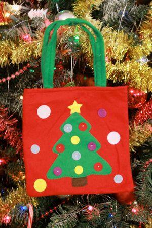 decora: Christmas bag hanging on the tree