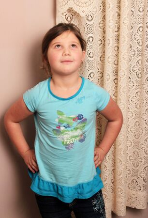 Little girl with hands on hips Stock Photo - 11820108