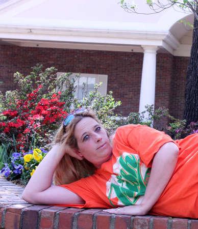 Pretty young lady portrait photo