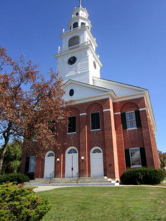 Beautiful brick church Stock Photo - 16309024