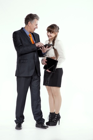 friendly explanation, a friendly rapport Stock Photo - 19266531