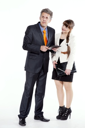 friendly explanation, a friendly rapport Stock Photo - 19226371
