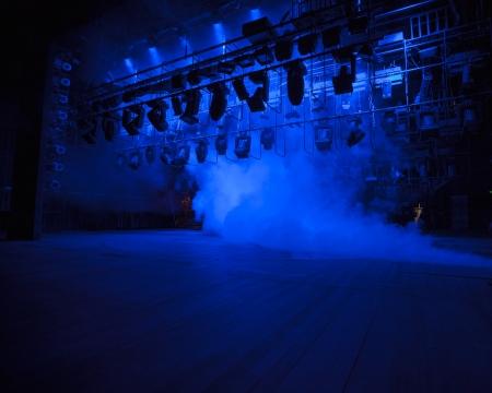 コンソールは、煙にステージ ライトします。 写真素材 - 20454415