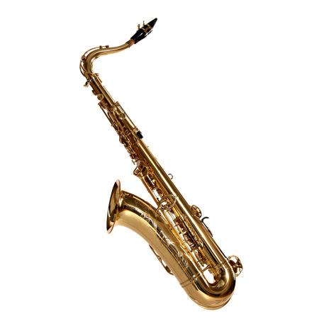 saxofón: saxofón aislado en blanco Foto de archivo