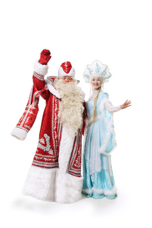 russian Christmas characters of Ded Moroz (Father Frost) and Snegurochka (Snow Maiden) photo
