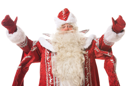 'ded moroz': santa claus or russian ded moroz on white background Stock Photo