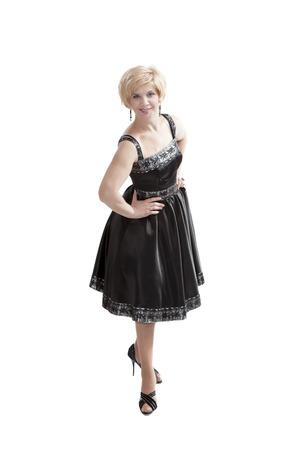 Beautiful woman wearing national ukrainian clothes posing to the camera 版權商用圖片