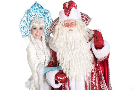 ロシアのクリスマス文字 (父フロスト) デッドモ ローズとスネグーラチカ (雪の乙女) 写真素材 - 48064881