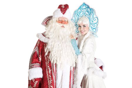 ded moroz: Russian Christmas characters Ded Moroz (Father Frost) and Snegurochka (Snow Maiden)