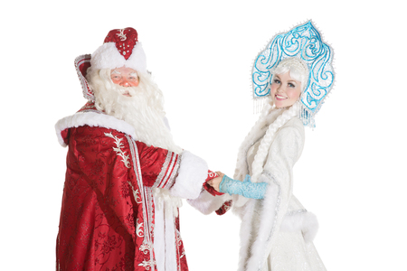 snegurochka: Russian Christmas characters Ded Moroz (Father Frost) and Snegurochka (Snow Maiden)