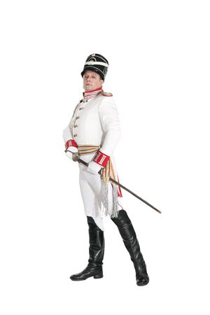commander: Horse Guards officer. Nineteenth Century. Honorary military guard.