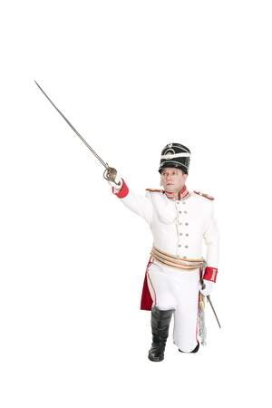 watchman: Horse Guards officer. Nineteenth Century. Honorary military guard.