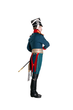 sentry: The officer in the Dragoon Regiment guard of honor