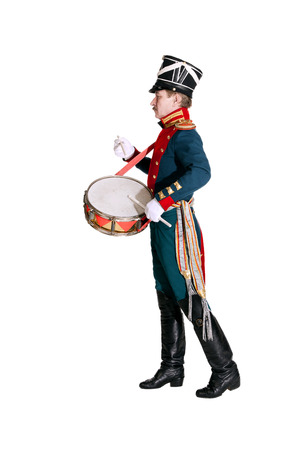 honor guard: The officer Dragoons, drummer honor guard Stock Photo