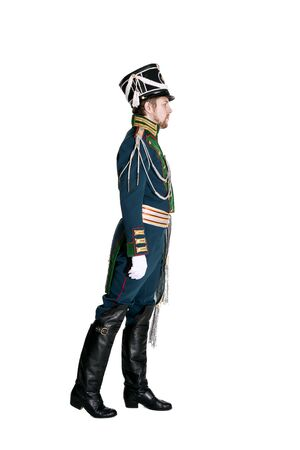 nineteenth: The officer of the Guards Jaeger Regiment. Nineteenth Century. Honorary military guard. Stock Photo