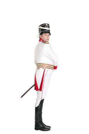 hessian boots: Horse Guards officer. Nineteenth Century. Honorary military guard.