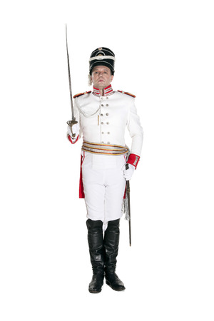 trooper: Horse Guards officer. Nineteenth Century. Honorary military guard.