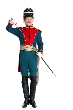 The officer in the Dragoon Regiment guard of honor