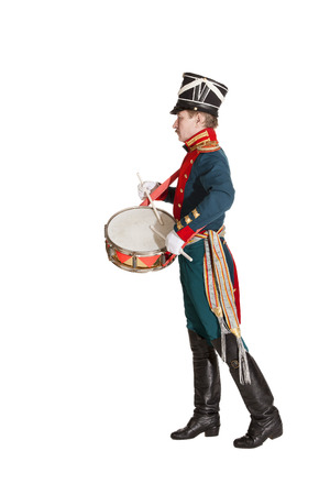 bastion: The officer Dragoons, drummer honor guard Stock Photo