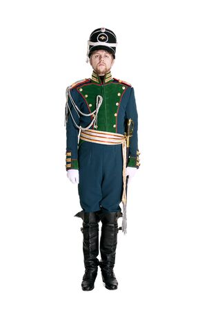 regiment: The officer of the Guards Jaeger Regiment. Nineteenth Century. Honorary military guard. Stock Photo