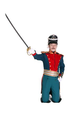 regiment: The officer in the Dragoon Regiment guard of honor