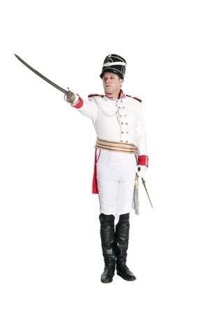 nineteenth: Horse Guards officer. Nineteenth Century. Honorary military guard.