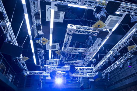 lighting system: The lighting system of a small chamber hall of the theater scene