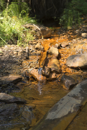 the healing power of water a holy source of drinking mineral water flows in a stream in