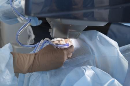 Cirugía láser para corrección de la visión y eliminación de cataratas.