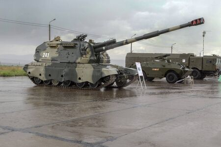 Powerful self-propelled howitzer