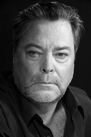Monochrome portrait of a charismatic man 写真素材