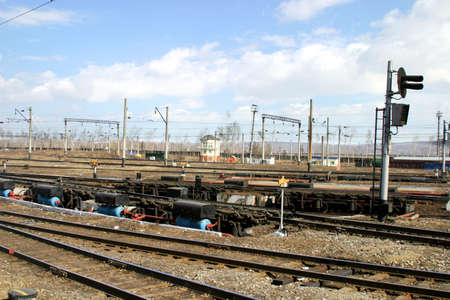 Workflow of a rail yard. Formation of freight trains.