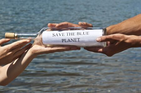 Save the blue planet photo