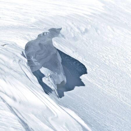imminent: Imminent snow visor, causing avalanche Stock Photo