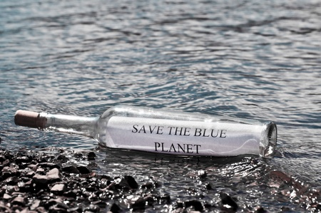 mother earth: Save the Blue planet Stock Photo