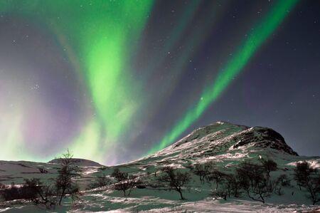 Beautiful Aurora Borealis in few lines.Captured near Skibon, Norway photo