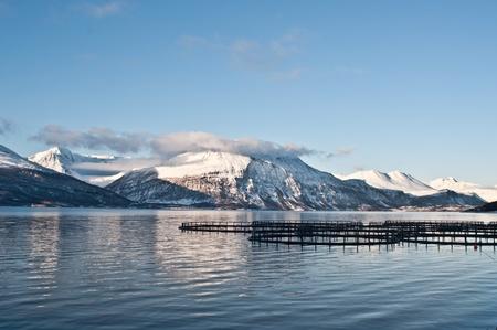 industry moody: Fjords in Norway near Skibotn