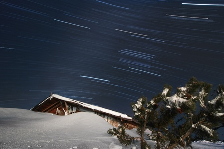 Winter time, long exposure photo