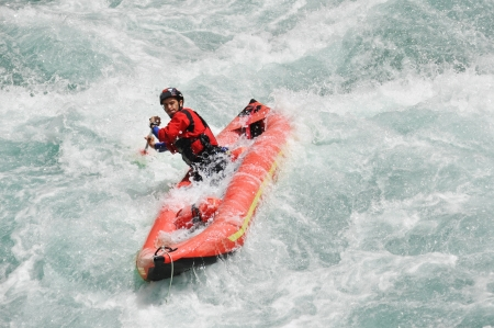 Rafting, extreme and fun sport photo