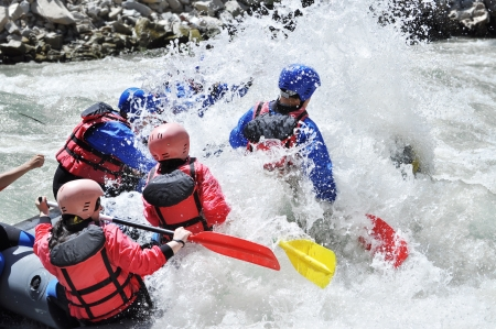 Rafting, extreme and fun sport