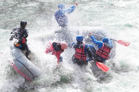 Rafting, extreme and fun team sport