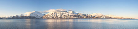 hires: Hi-res panorama of Norwegian fjords into the sea  1 4 7 Ratio