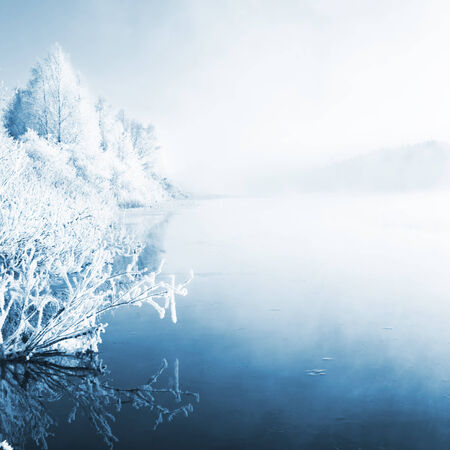 Winter landscape, captured in Finland photo