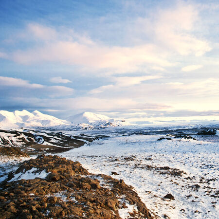 wintry: Wintry landscape from Iceland